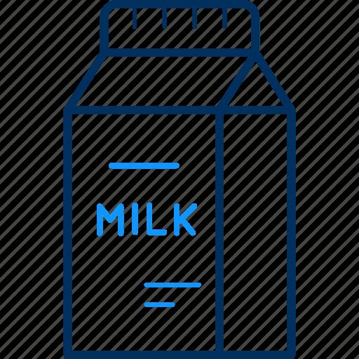 breakfast, fresh, milk, packet icon