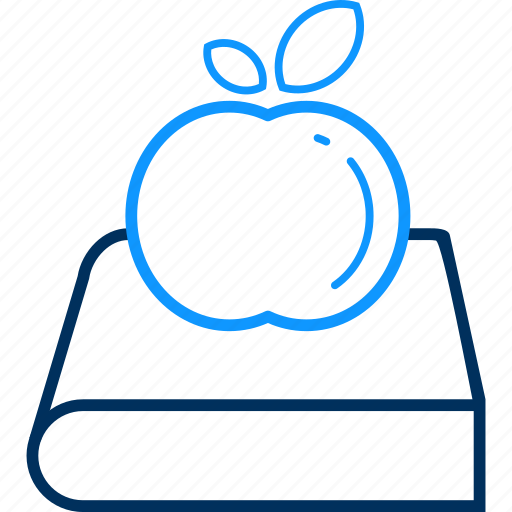 apple, book, library icon