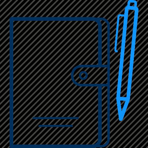 business, folder, pen icon