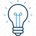 bulb, creation, creativity, idea, light icon