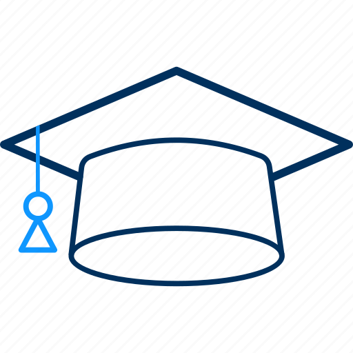 cap, graduate, graduation, hat icon
