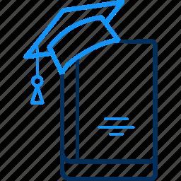 graduate, library, student icon