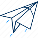 paper, plane, post, send icon