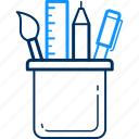 drawing, item, items, pen, pencil, stationary, stationery icon