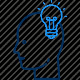 brain, bulb, business, creative, energy, idea, light icon