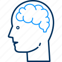 avatar, brain, brainstorming, human, man, person, thinking icon