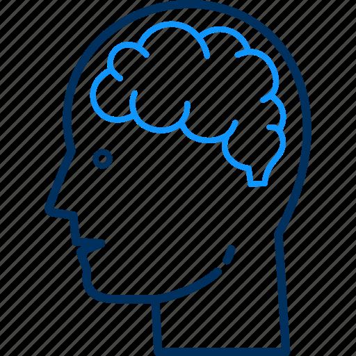 avatar, brain, brainstorming, human, man, person, thinking icon
