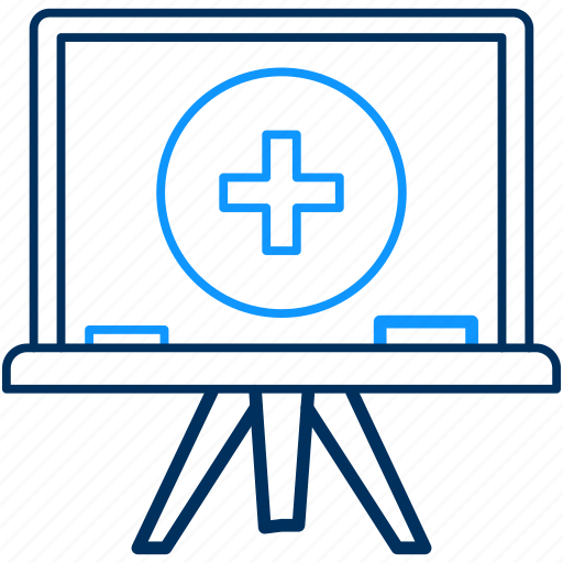 board, classes, education, maths, plus, presentation, tution icon