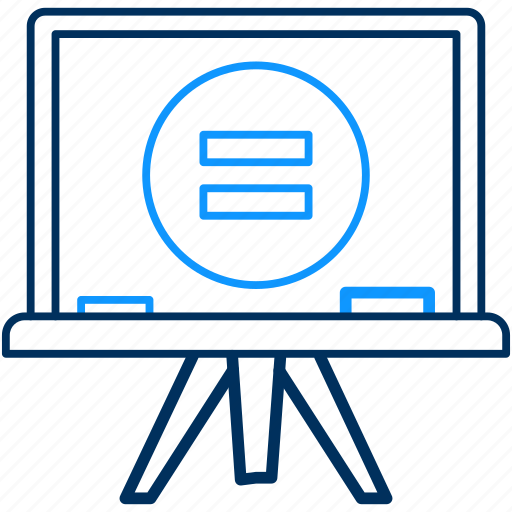 board, equal, equals, math, maths, presentation icon