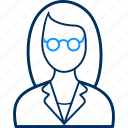 avatar, female, girl, person, teacher, user, woman icon