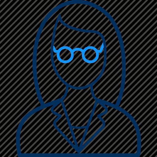 avatar, female, girl, person, teacher, user, woman icon
