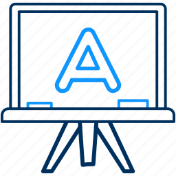 a, alphabet, class, classes, education, english icon