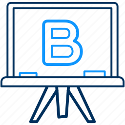 alphabet, b, class, education, english, teach icon