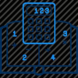 calc, calculating, calculation, math, mathematics, maths icon