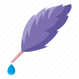 drop, feather, ink, tool, write icon