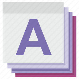 a, memory, notes, notice, papper, study icon