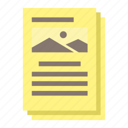 document, paper, picture, study icon