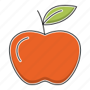 apple, education, fruit, healthy, study, sweet icon