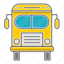 bus, education, school, study, transport, transportation icon