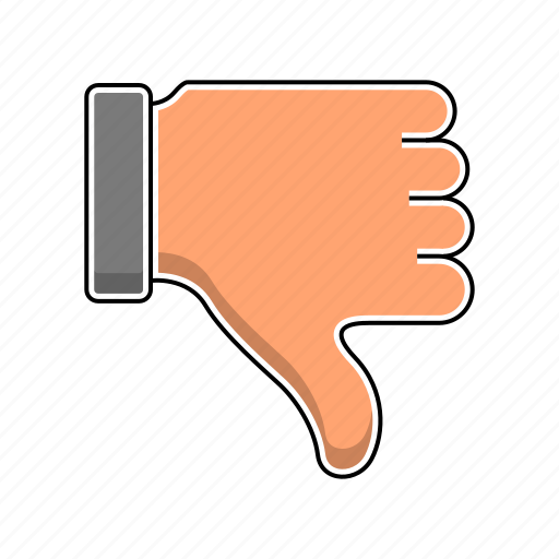 deslike, hand, refuse, vote icon