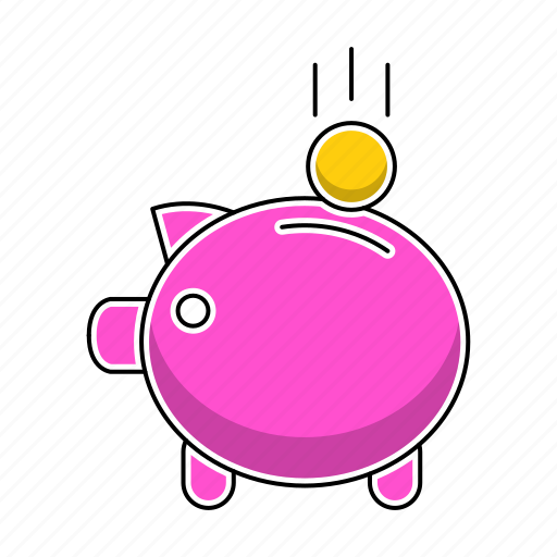 banking, education, finance, invest, piggy, study icon
