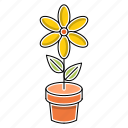 ecology, education, flower, nature, school, study icon