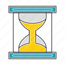 education, hourglass, knowledge, study, timer icon