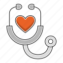 education, heart, learn, medcine, study icon