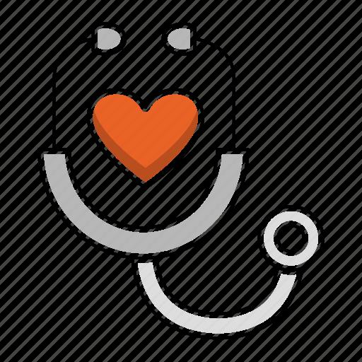 education, heart, learn, medcine, study icon
