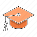 education, hat, learn, school, study icon
