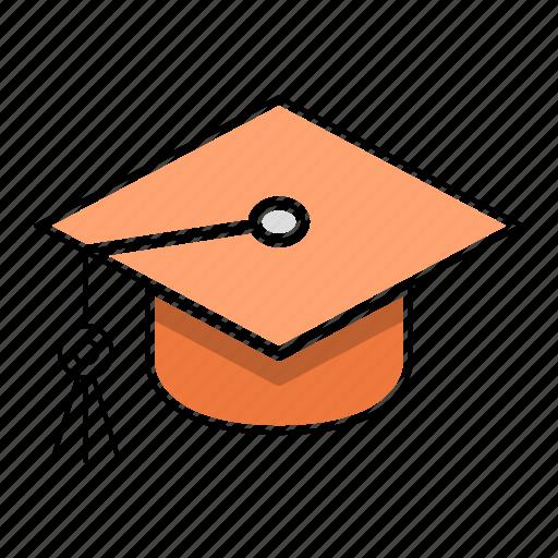 education, hat, learn, school, study icon