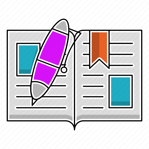 book, education, knowledge, learn, pen, study, tool icon