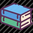 books, reading, study icon
