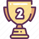 cup, place, second, win, winner icon