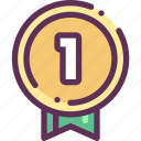 award, first, medal, place, win, winner icon