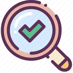 done, loop, microscope, search, success, zoom icon