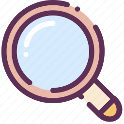 loop, microscope, search, zoom icon