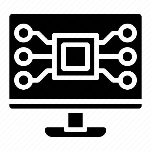 computer, digital, electronic, screen, system icon