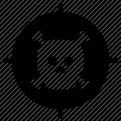 seeker, skull, target icon