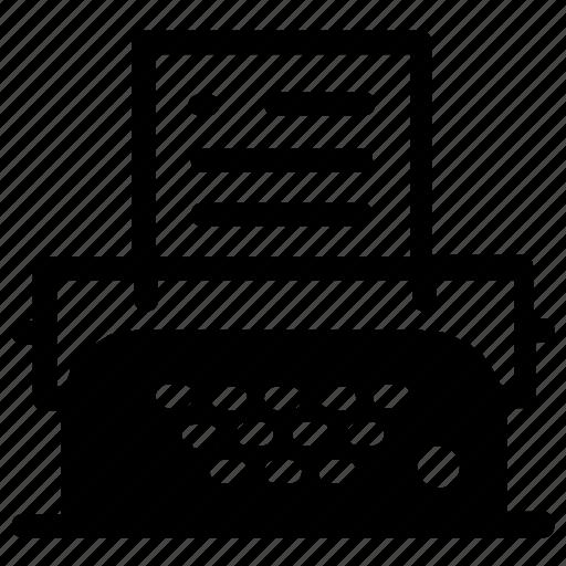 typewriter, writer icon