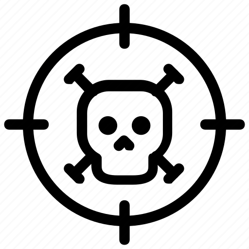 death, skull, target icon