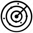 location, navigate, navigation, radar, signal icon