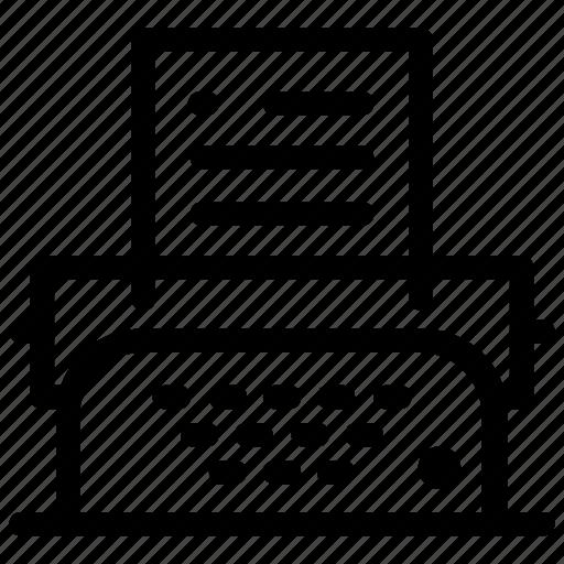 type, typewriter, writer icon