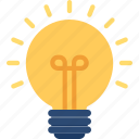 brightness, electric bulb, illumination, light, light bulb icon