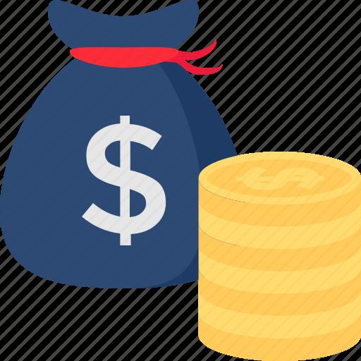 dollar pouch, money bag, money pouch, money sack, savings icon