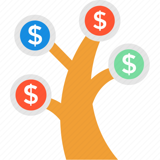 business growth, financial concept, financial growth, financial investment, money tree icon
