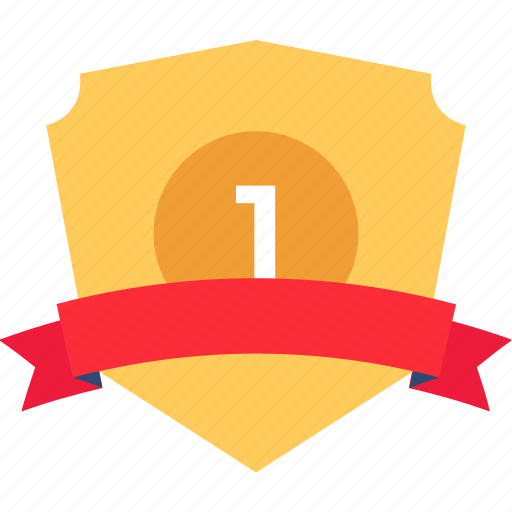 award shield, first place shield, golden shield, ribbon shield, shield badge icon