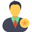 business evaluation, business feedback concept, businessman star rating, employee performance, employee ranking icon