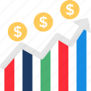 business chart, business growth, financial data graph, financial growth, successful business icon