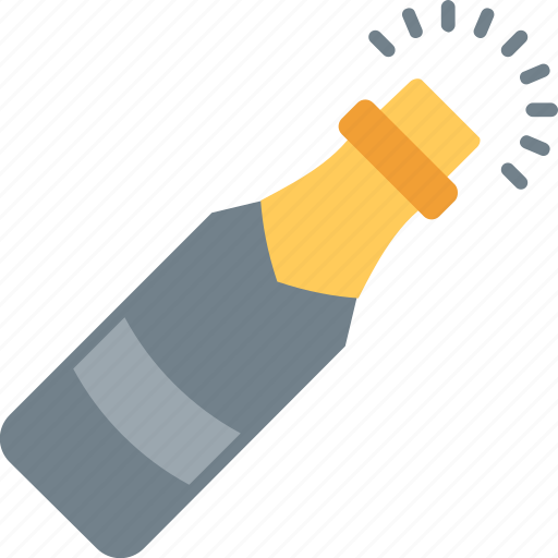 celebration theme, champagne cork, champagne explosion, champagne party, popping champagne icon